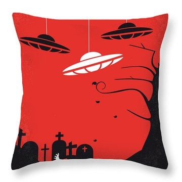 No518 My Plan 9 From Outer Space Minimal Movie Poster Throw Pillow