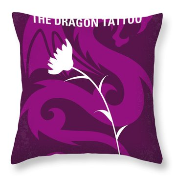 No528 My The Girl With The Dragon Tattoo Minimal Movie Poster Throw Pillow