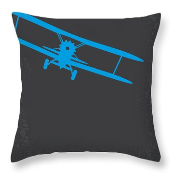 No535 My North By Northwest Minimal Movie Poster Throw Pillow