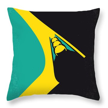 No538 My Cool Runnings Minimal Movie Poster Throw Pillow