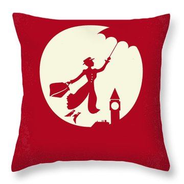 No539 My Mary Poppins Minimal Movie Poster Throw Pillow
