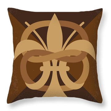 No548 My Da Vinci Code Minimal Movie Poster Throw Pillow
