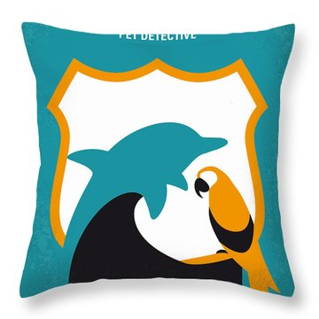 No558 My Ace Ventura Minimal Movie Poster Throw Pillow
