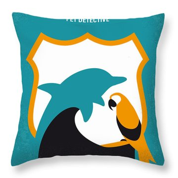 No558 My Ace Ventura Minimal Movie Poster Throw Pillow by Chungkong Art
