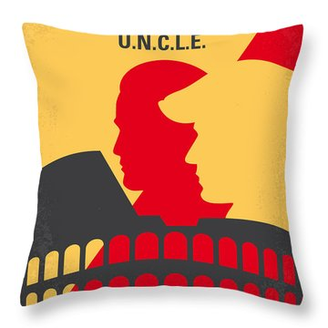 No572 My Man From Uncle Minimal Movie Poster Throw Pillow