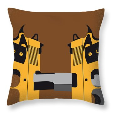 No576 My Face Off Minimal Movie Poster Throw Pillow