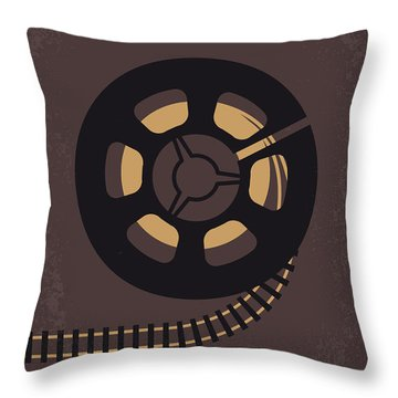 No578 My Super 8 Minimal Movie Poster Throw Pillow
