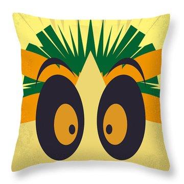 No589 My Madagascar Minimal Movie Poster Throw Pillow