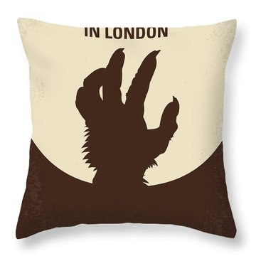 No593 My American Werewolf In London Minimal Movie Poster Throw Pillow