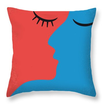 No600 My Love Story Minimal Movie Poster Throw Pillow by Chungkong Art