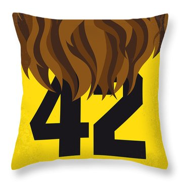 No607 My Teen Wolf Minimal Movie Poster Throw Pillow
