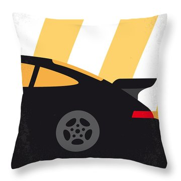No627 My Bad Boys Minimal Movie Poster Throw Pillow by Chungkong Art