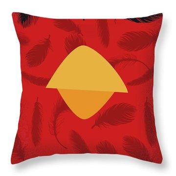 No658 My Angry Birds Movie Minimal Movie Poster Throw Pillow