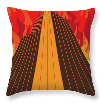 No665 My The Towering Inferno Minimal Movie Poster Throw Pillow