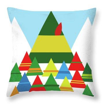 No699 My Elf Minimal Movie Poster Throw Pillow