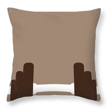 No707 My Pumping Iron Minimal Movie Poster Throw Pillow