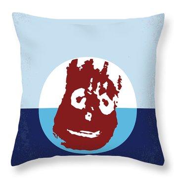 No718 My Cast Away Minimal Movie Poster Throw Pillow