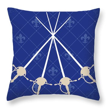 No724 My The Three Musketeers Minimal Movie Poster Throw Pillow