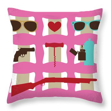 No736 My True Romance Minimal Movie Poster Throw Pillow