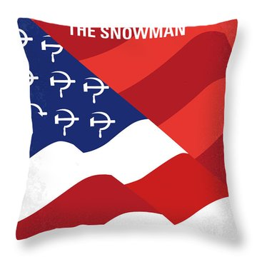 Throw Pillow featuring the digital art No749 My The Falcon And The Snowman Minimal Movie Poster by Chungkong Art