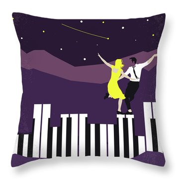 No756 My La La Land Minimal Movie Poster Throw Pillow
