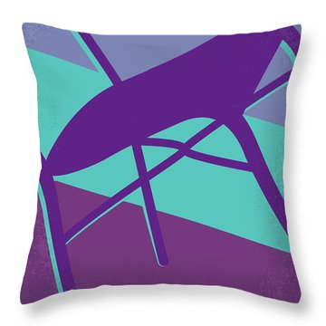 Throw Pillow featuring the digital art No757 My Moonlight Minimal Movie Poster by Chungkong Art
