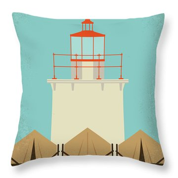 Throw Pillow featuring the digital art No760 My Moonrise Kingdom Minimal Movie Poster by Chungkong Art