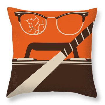 Throw Pillow featuring the digital art No768 My Falling Down Minimal Movie Poster by Chungkong Art