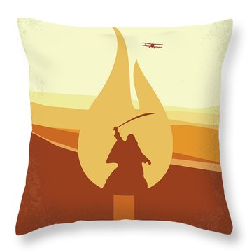 Throw Pillow featuring the digital art No772 My Lawrence Of Arabia Minimal Movie Poster by Chungkong Art