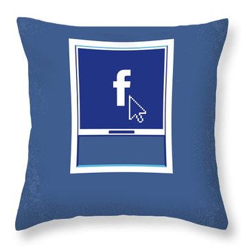 No779 My The Social Network Minimal Movie Poster Throw Pillow