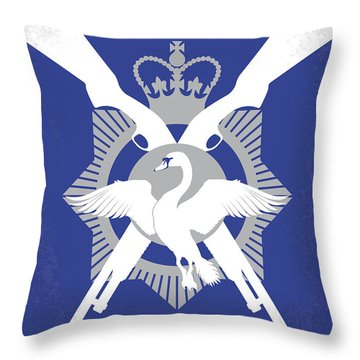 No847 My Hot Fuzz Minimal Movie Poster Throw Pillow