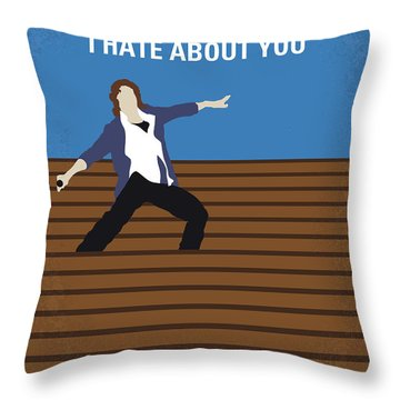 No850 My 10 Things I Hate About You Minimal Movie Poster Throw Pillow