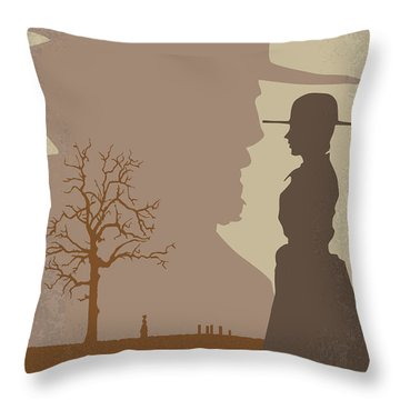 No860 My True Grit Minimal Movie Poster Throw Pillow