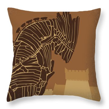 No862 My Troy Minimal Movie Poster Throw Pillow