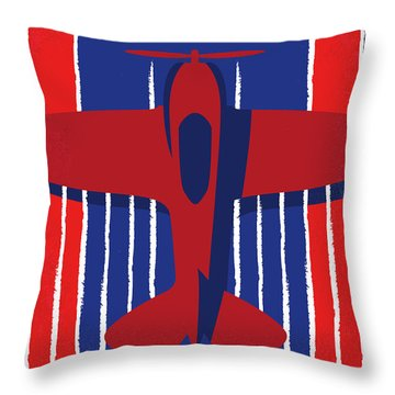 No869 My American Made Minimal Movie Poster Throw Pillow