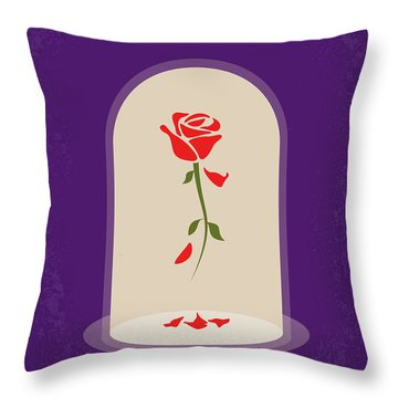 No878 My Beauty And The Beast Minimal Movie Poster Throw Pillow