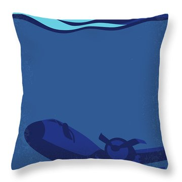 No912 My Into The Blue Minimal Movie Poster Throw Pillow