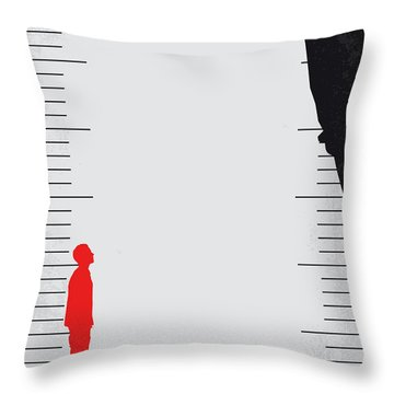 No934 My Downsizing Minimal Movie Poster Throw Pillow