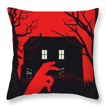 No935 My Night Of The Living Dead Minimal Movie Poster Throw Pillow