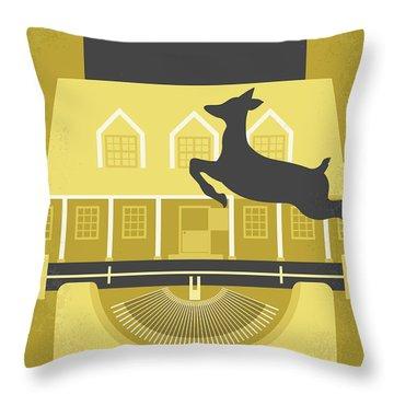 No959 My Funny Farm Minimal Movie Poster Throw Pillow