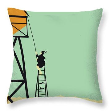 No964 My Bagdad Cafe Minimal Movie Poster Throw Pillow