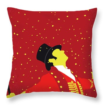 No965 My The Greatest Showman Minimal Movie Poster Throw Pillow