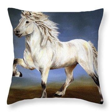 Nobility  Icelandic Horse Throw Pillow