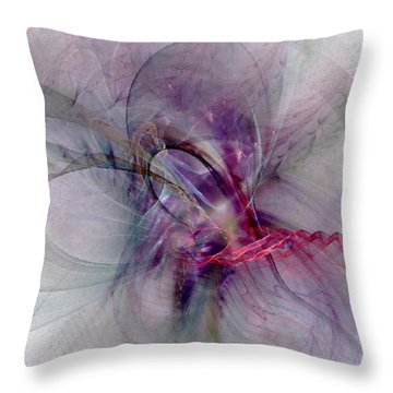 Nobility Of Spirit - Fractal Art Throw Pillow by NirvanaBlues
