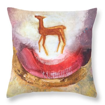 Noble Deer Throw Pillow