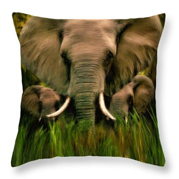 Noble Ones Throw Pillow by Lourry Legarde