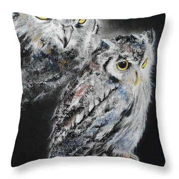 Noble Owl Guardian Of The Afterlife Throw Pillow by Carla Carson
