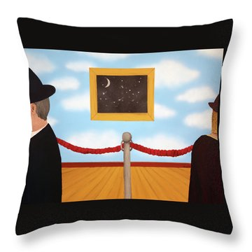 Nobody Noticed Throw Pillow by Thomas Blood