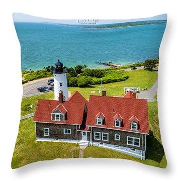 Nobska Light House  Throw Pillow