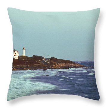 Nobska Point And Moon Throw Pillow